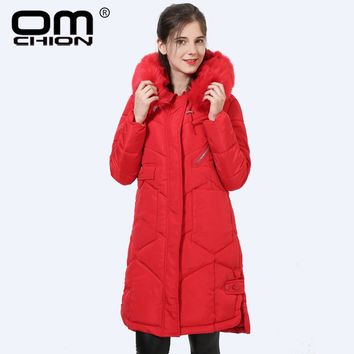 New Clothing Women Autumn Winter Parka Women's Long Jacket With Hood Big Fake Fur Warm Coat