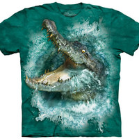 The Mountain CROCODILE SPLASH Big Face Alligator Gator Croc T-Shirt S-5XL NEW