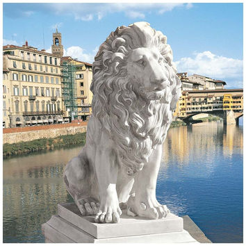 Park Avenue Collection Lion Of Florence Statue