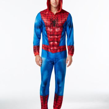 Spiderman Adult Pajamas With Hood