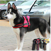 Nylon Pet Dogs Pulling Training Harness Sport Working Dogs Fit For Husky Pitbull Lage Breeds
