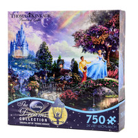 disney thomas kinkade cinderella wishes upon a dream 750 pcs puzzle new with box