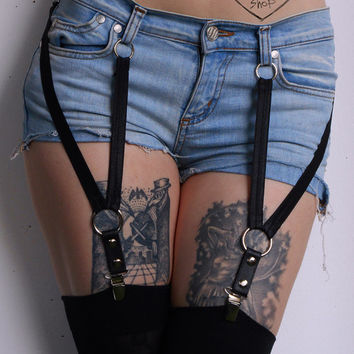 PAIR of Clip-On Shorts Garters