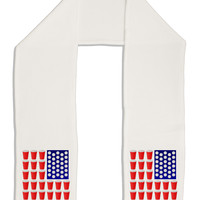 "Beer Pong Flag Adult Fleece 64"" Scarf"