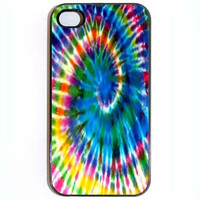 iPhone 4 4s Case Colorful Tie Dyed Hard Case Comes by KustomCases