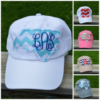 State Monogram Baseball Hat