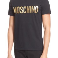 Men's Moschino Foil Print Logo T-Shirt,