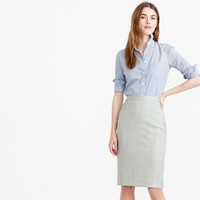Pencil skirt in Super 120s wool : | J.Crew