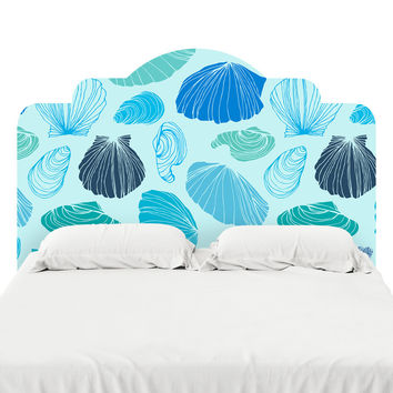 Turquoise Shells Headboard Decal