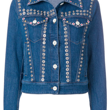 Miu Miu Snap Button Embellished Jacket - Farfetch