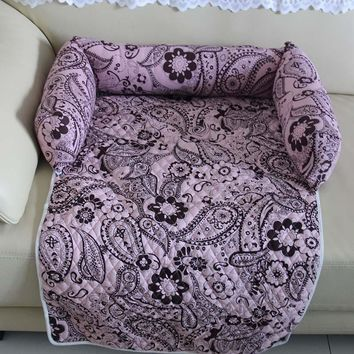 Multifunction Small Large Dog Cat Bed Sofa Print Pattern Dog Mat Dog Cat Pet Kennels Washable Nest House Pet Supplies S M L XL