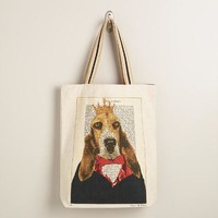 Dog Bonjour Paris Tote Bag - World Market