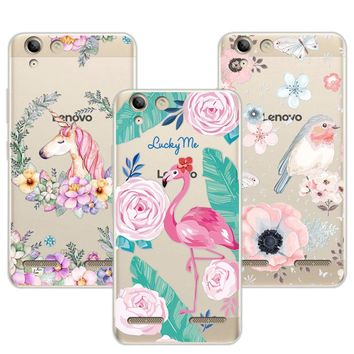 "3D Case Cover  Lenovo K5 Vibe K5 Plus A6020 5.0"" Relief Lace Plant Flower Cute Soft Silicon Phone Case  For Lenovo Vibe K5 A6020"