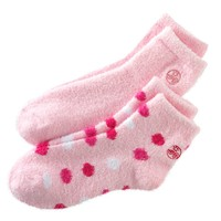 Earth Therapeutics 2-pk. Dotted & Solid Aloe Socks, Size: One Size (Blue)