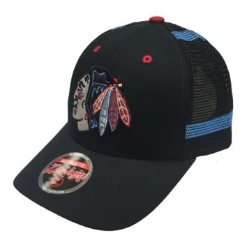 Chicago Blackhawks Screenplay Chicago Colors Trucker Snapback Hat-Black