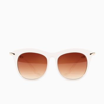 ShopSosie Style : Gaze Out Sunglasses in White