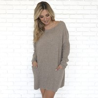 Keeps Me Going Knit Sweater Dress