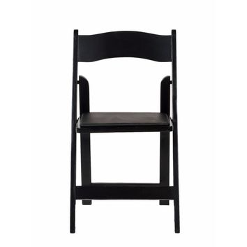 American Classic Black Wood Folding Chair