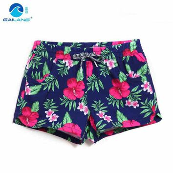 GL Brand Summer Women's Floral Beach Short Plus Size Women Water Sportswear Boxer Swimwear Woman Sea Holiday Swim Surfing Shorts
