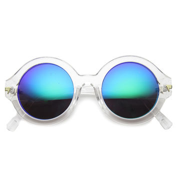 COLOR WHEEL ROUND REVO SUNGLASSES