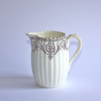 Antique Cream Pitcher / Staffordshire England / Classic Design