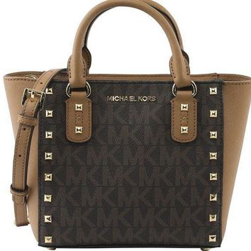 Michael Michael Kors Women's Sandrine Stud Small Crossbody Bag Style 35h7gd1c1b