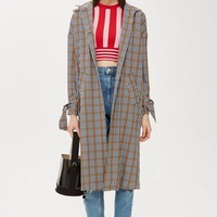 Check Duster Coat | Topshop