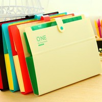 32.5 x 22 x 2.5cm Poly Expanding File Folder Organ Bag A4 Organizer Paper Holder Document Folder School Supplies