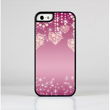 The Pink Sparkly Chandelier Hearts Skin-Sert for the Apple iPhone 5-5s Skin-Sert Case