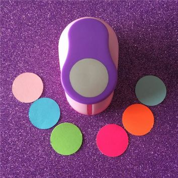 "Free Shipping 1""(2.5cm)circle Paper/EVA foam hole punch for greeting card handmade scrapbooking round shaped craft punch machine"