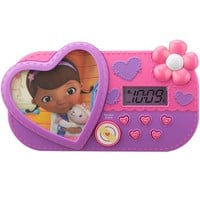 Disney Doc McStuffins Night Glow Alarm Clock (Pink/Purple)