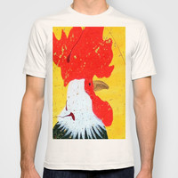 """doodle doo"" rooster T-shirt by Jennifer Pennacchio"