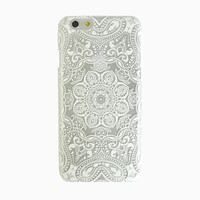 Clear White Mandala iPhone 6 Case