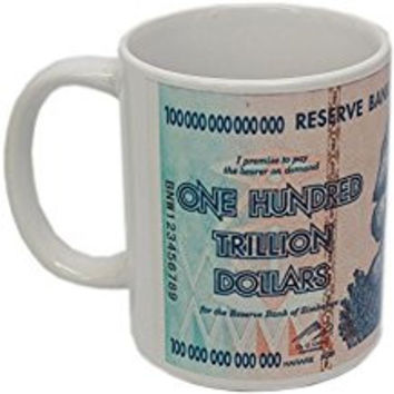 Zimbabwe 100 Trillion Banknote Coffee Mug