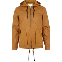 River Island MensYellow casual hooded bomber jacket