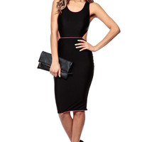 Spring Break Black Body Con Dress