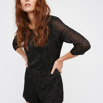 Free People Animal Instincts Romper