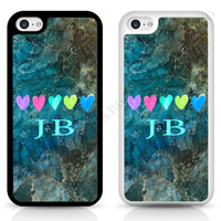 MARBLE PAINTED HEART PERSONALISED CUSTOM PHONE CASE COVER FOR IPHONE SAMSUNG