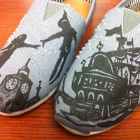 Peter Pan Handpainted Disney Custom Toms