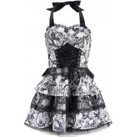 Deadly Rose Princess Pinup Skulls Cute Dress from H&R London