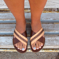 Flat Leather Sandals. Fully Customizable. Erato 04 NEW