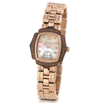 Le Vian Strawberry Colored Stainless Steel Chocolate Colored Watch