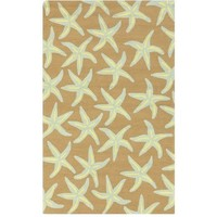 Khaki Outdoor Starfish Rug