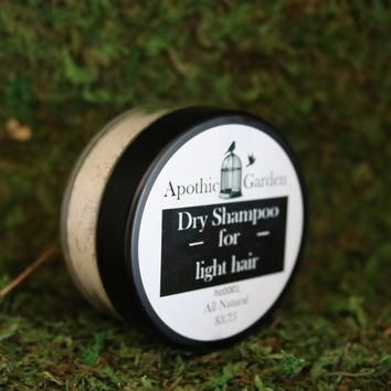 Dry Shampoo for Light Hair All Natural by Apothic Garden