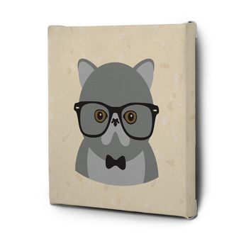 Hipster Animals Pictures Canvas Wall Art Decal Painting Prints Cat2
