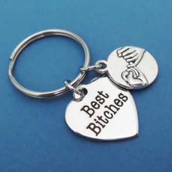 Best Bitches Pinky Promise Keychain