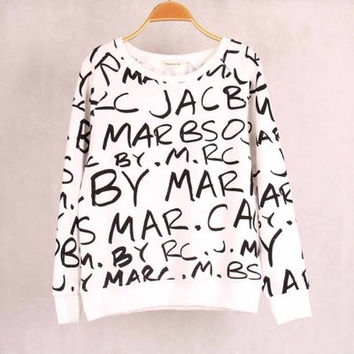 "SIMPLE - ""Marc Jacobs"" Long Sleeve Women Casual Shirt Sweatshirt blouse T-shirt b4196"