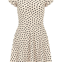 Nude spot twist sleeve dress - View All New In   - What's New