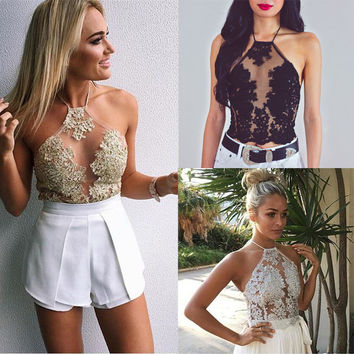 Sexy-Women-Summer-Lace-Vest-Top-Sleeveless-Shirt-Blouse-Casual-Tank-Tops-T-Shirt