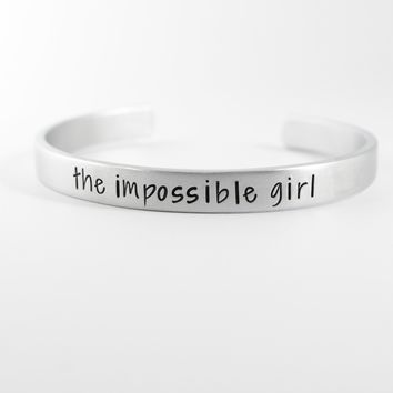 """""""The Impossible Girl"""" Doctor Who Inspired Cuff Bracelet"""